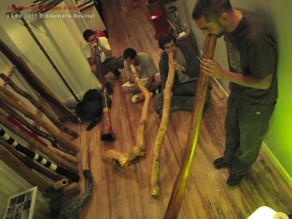 Session Didgeridoo à Oloron (Pyrénées)